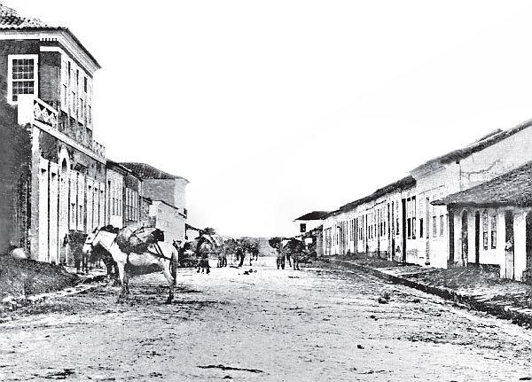 Rua XV de Novembro em 1870