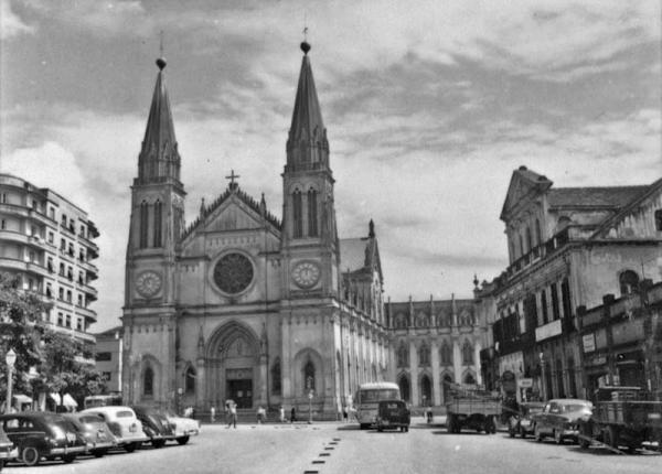 Praça Tiradentes na década de 50