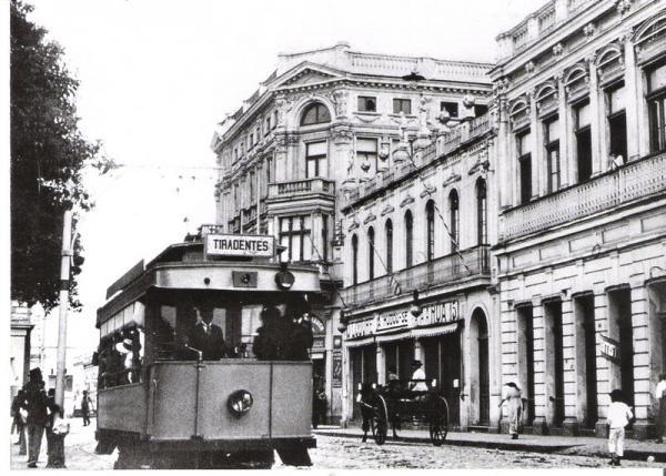 Praça Tiradentes em 1914