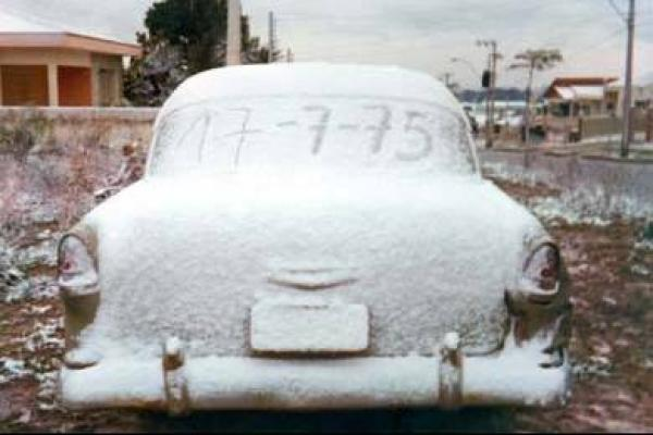 Neve de 1975 em Curitiba, Nevou em todo lugar, até nos carros