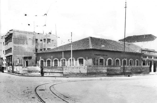 Armazém Zacarias, pronto para ser  demolido,em 1938.