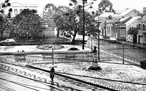 Praça Garibaldi dia 17 de julho de 1975