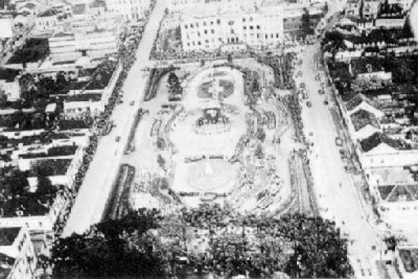 Praça Santos Andrade em 1930