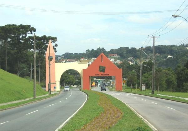 Portal do bairro de Santa  Felicidade