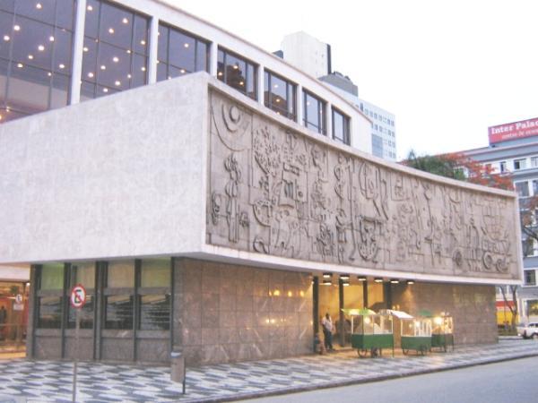 Projeto de construção do novo  prédio do Teatro Guaíra no ano  de 1948