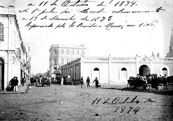 O antigo Mercado Municipal de Curitiba em 1874
