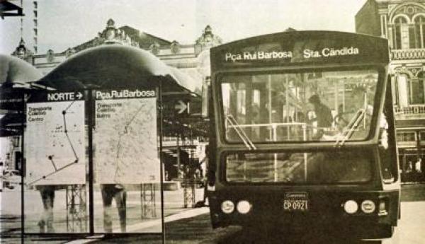 Linha de Ônibus Praça Rui Barbosa Santa Candida em 1974