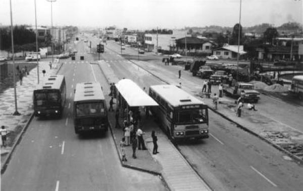 Linha de Ônibus Eixo Boqueirão em  1977