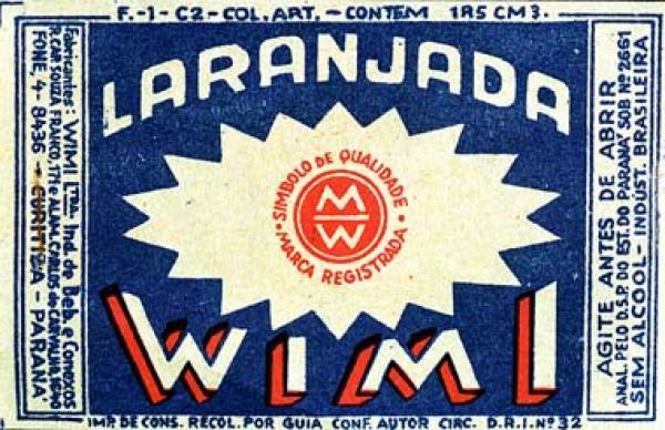 Laranjada Wimi embalagem capacidade da garrafa era 185 CM 3