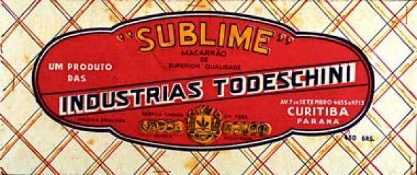 Massas Todeschini embalagem sua fabrica era na Sete de Setembro