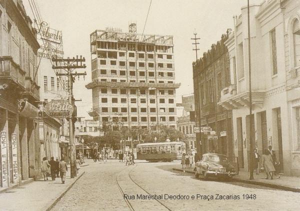Marechal Deodoro e Praça Zacarias em 1948