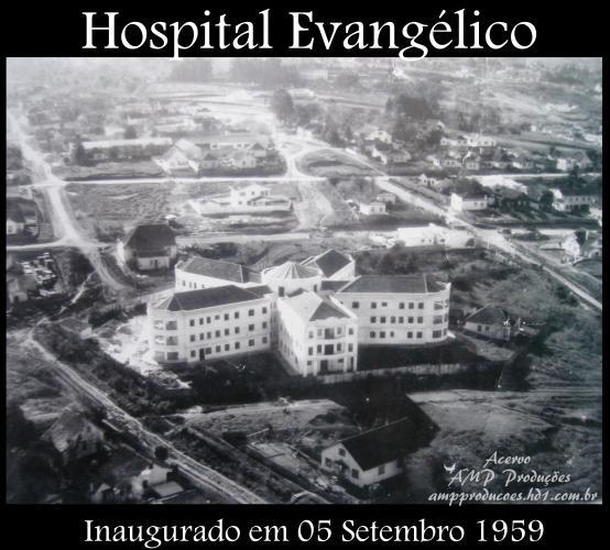 Hospital Evangélico de Curitiba no ano de 1959 Acervo AMP Produções