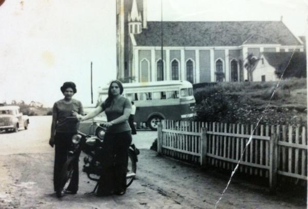 Bairro Barreirinha ano de 1973 em frente a Paróquia da Barreirinha