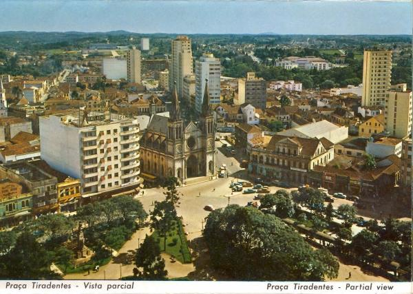 Catedral de Curitiba Antigamente foto da praça Tiradentes