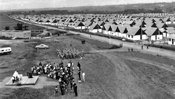 Solenidade de inauguração do bairro em Novembro de 1967 Vila Nossa Senhora da Luz dos Pinhais