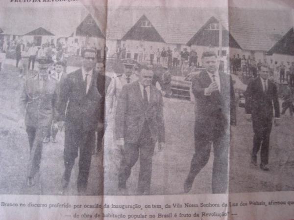 Vila Nossa Senhora da Luz dos Pinhais em 1967 Recorte de jornal Gazeta do Povo