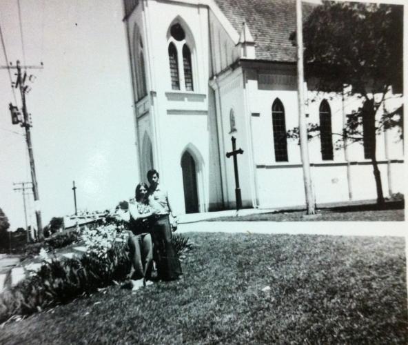 Paróquia de Santa Candida no ano de 1974