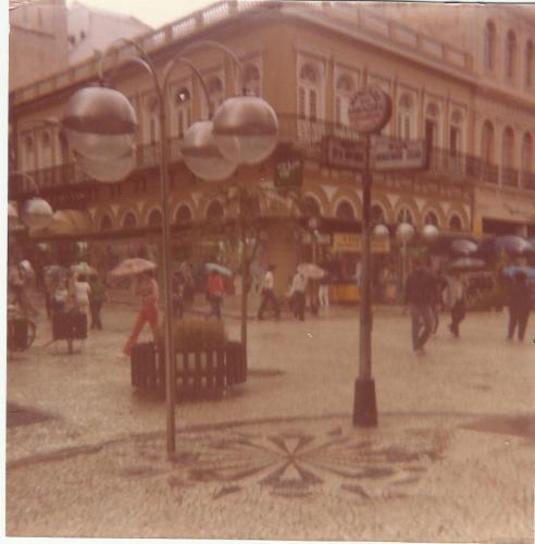 Rua das Flores em 1983 em Curitiba