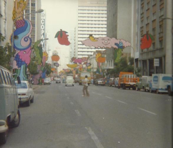 Rua Marechal Deodoro Curitiba Carnaval de 1980