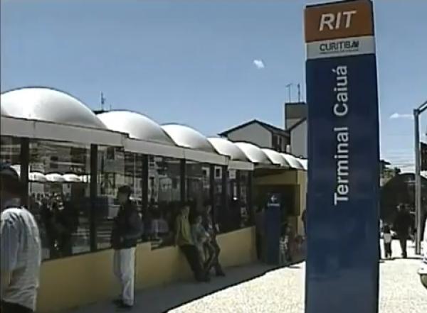Inauguração do terminal Caiuá com o Governador Jaime Lerner e o Prefeito Cassio Taniguchi