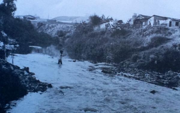Rio Belém em um trecho ainda não tratado