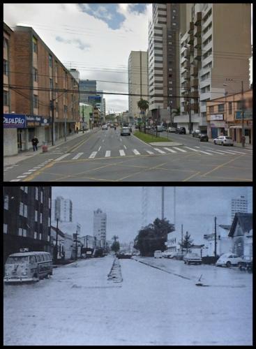 Enchente Curitiba Mariano Torres 1975 Foto de Ontem e Hoje