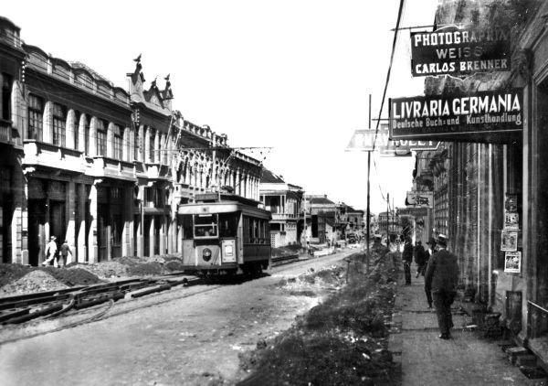 Rua Barão do Rio Branco na década  de 20
