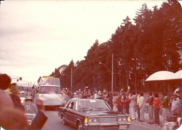 Fotos do Papa João Paulo II chegando em Curitiba em 1980 onde hoje é o Shopping Cidade no Hauer