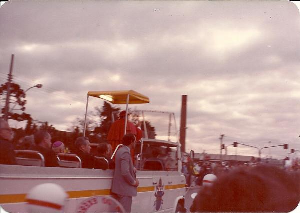 Papa João Paulo II Curitiba em 1980 em frente onde hoje é o Shopping Cidade no Hauer