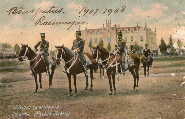 Oficiais de Artilharia Curitiba no ano de 1907