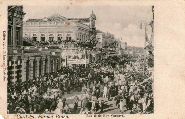 Carnaval na rua XV no inicio do seculo XX