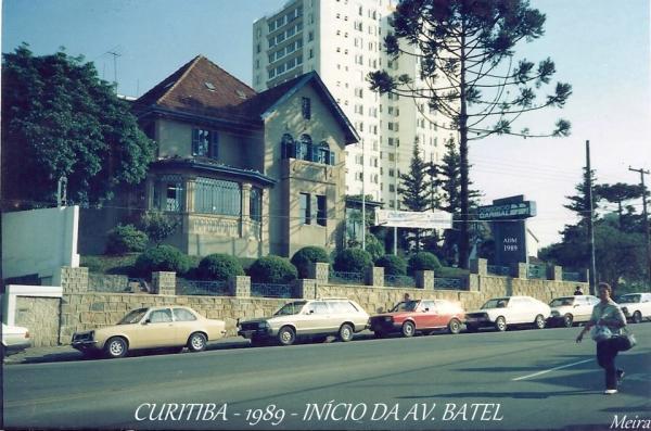 Início da Avenida Batel Curitiba ano 1989