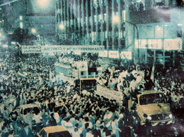 Festa dos jogadores do Coritiba que foi campeão Brasileiro em 1985
