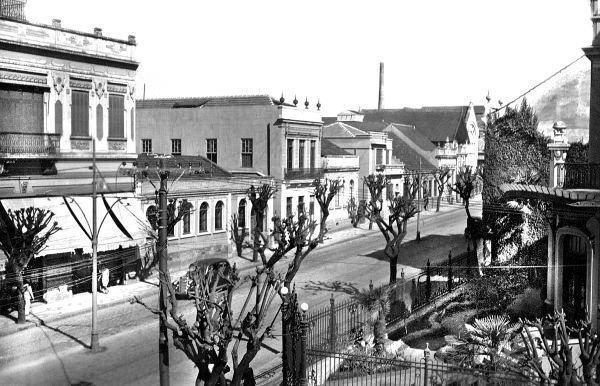Rua Comendador Araújo a esquina a Casa Glaser foto da Década de 40