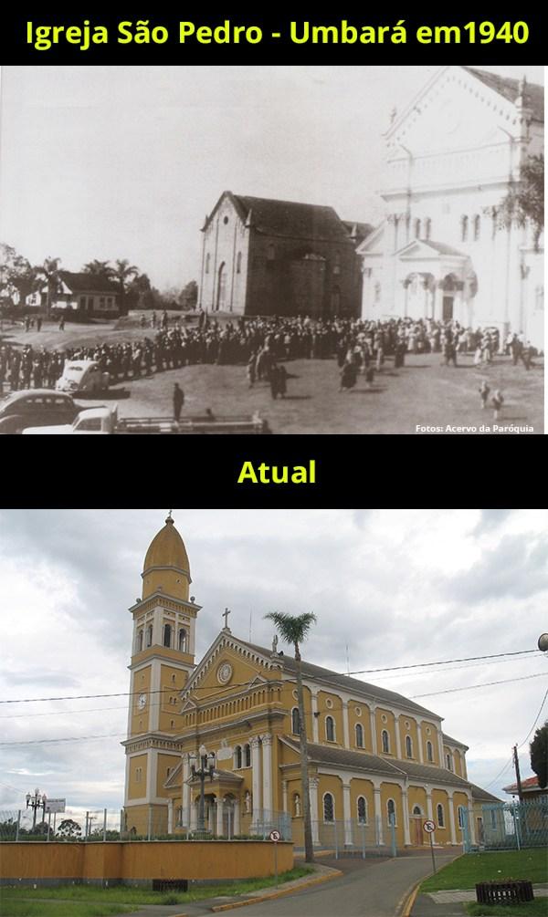 Igreja São Pedro no Umbará ano de 1940
