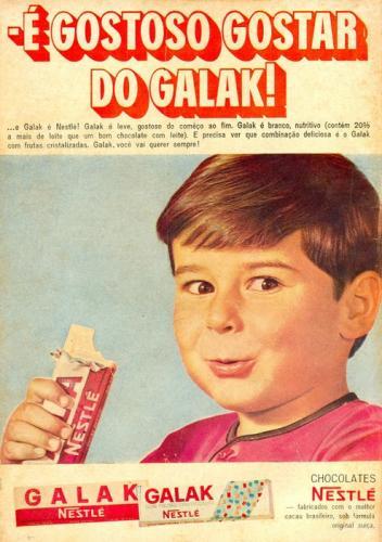 Propaganda antiga de Chocolate É gostoso gostar de Galak