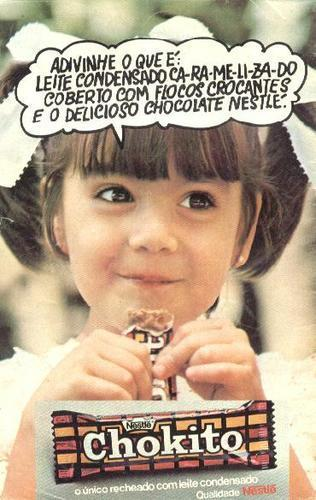 Propaganda antiga do Chocolate 