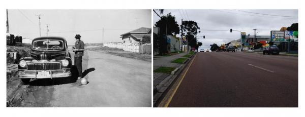 Rua Professor Nivaldo Braga quase  esquina com Antonio Meireles  Sobrinho no Alto Cajurú em 1970