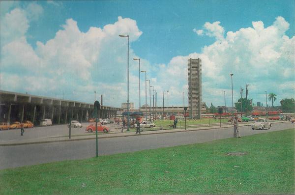 Rodoferroviária de Curitiba no final da década de 70