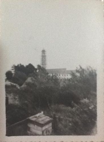 Foto da construção da Igreja Nossa Senhora das Mercês em 1935