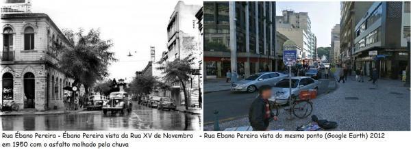 Rua Ebano Pereira 1950 Vista da XV de Novembro