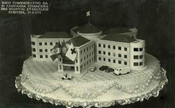 Bolo em prol da construção do Hospital Evangélico de Curitiba Antigamente