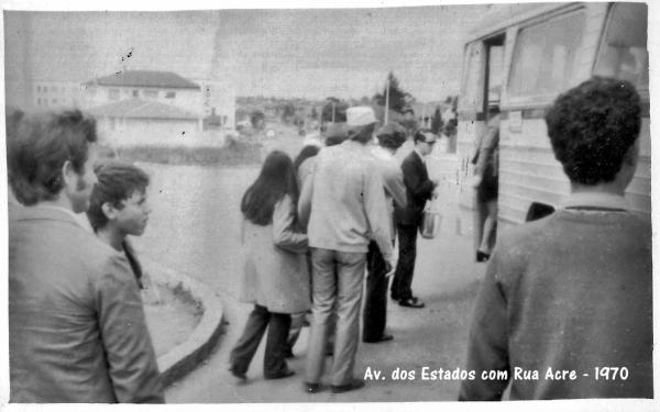 Avenida dos Estados com Rua Acre Vila Guaíra ano 1970