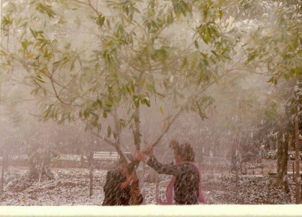 Dia da neve de Curitiba em 17 07  1975 na Praça Tiradentes