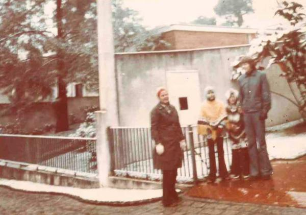 Neve em Curitiba em 17 07 1975 no Bairro Batel