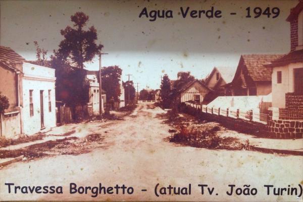 Travessa João Turin no Água Verde antiga Travessa Borghetto em 1949