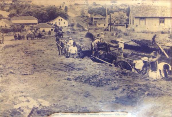 Praça do Japão em 1929 inicio da construção da Republica Argentina com