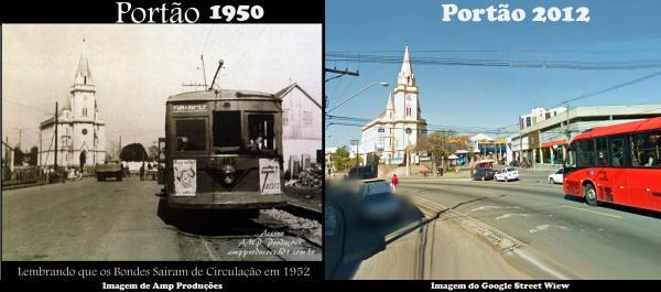Bairro Portão ano 1950 x ano 2012