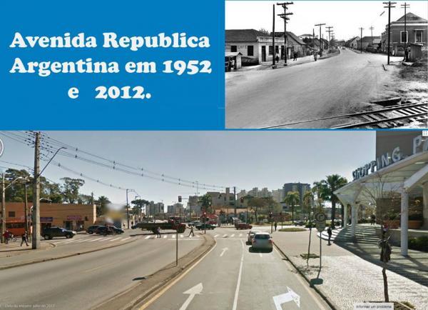 Portão Avenida Republica Argentina no ano 1952 x 2012