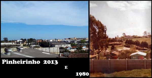 Bairro Pinheirinho ano de 1980 x 2013
